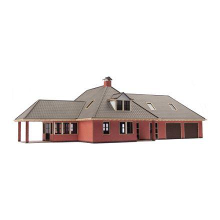 """Unique Laser-Cut Bausätze - Wohnhaus """"De Esch"""" - L: 300mm x B: 173mm x H: 100mm - H0 (1:87) - (01-03-004)"""