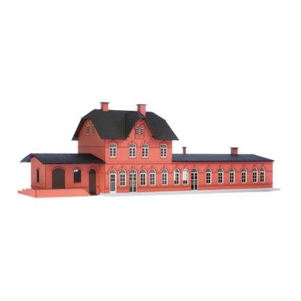 """Unique Laser-Cut Bausätze - Bahnhof """"Laarwald"""" - L: 461mm x B: 151mm x H: 150mm - H0 (1:87) - (01-05-002)"""