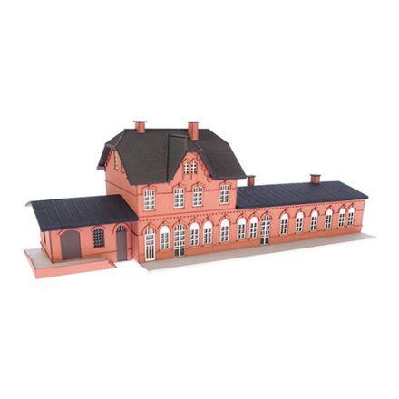 """Unique Laser-Cut Bausätze - Bahnhof """"Laarwald"""" - L: 252mm x B: 83mm x H: 78mm  - N (1:160) - (02-05-001)"""
