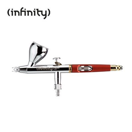 Harder & Steenbeck Infinity Two in One - Fine line Düsensätze 0,2 & 0,4 mm, Farbbecher 2 ml & 5 ml, Vernickelt, Quick Fix-Endstück mit Skala, PTFE-Dichtungen - (126594)