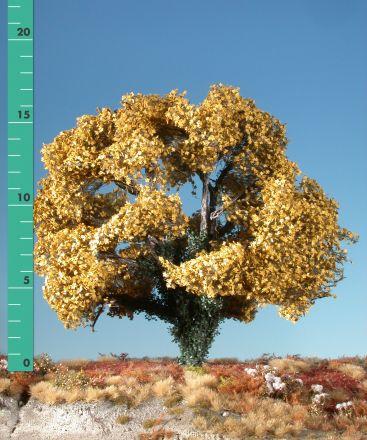 Silhouette Ahorn mit Efeu bewachsen - Spätherbst (gelb) - 2 (ca. 15-20cm) - H0 (1:87) - (231-24)