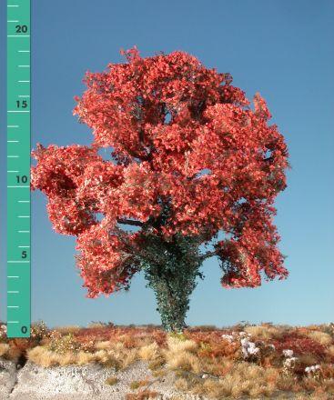 Silhouette Ahorn mit Efeu bewachsen - Spätherbst (rot) - 2 (ca. 15-20cm) - H0 (1:87) - (231-25)