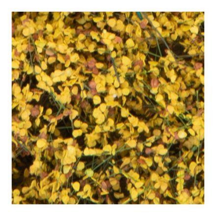 Silhouette Büsche und Sträucher - Spätherbst Gelb - 12 x 14 cm - (250-44)