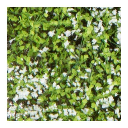 Silhouette Büsche und Sträucher - weiß blühend - 12 x 14 cm - (250-45)