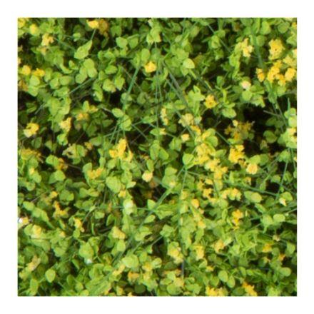 Silhouette Büsche und Sträucher - blühend gelb - 12 x 14 cm - (250-46)