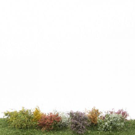 Silhouette Sträucher-Sortiment, Profiline - Blühend -  ca. 3cm - H0 (1:87) - (252-05)