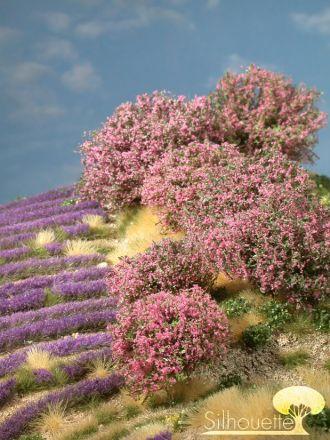 Silhouette Rhododendron - Rosa - 0 (< ca. 8cm) - H0 (1:87) - (253-07)