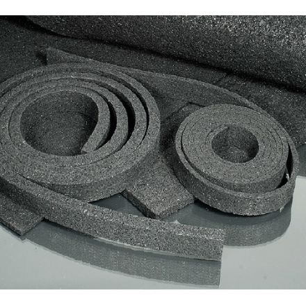 Minitec Flex-Bettungsstreifen - L 600 / B 19 / H 6 mm - 1/2 Schwellenbreite - 10x Streifen - (58-6019-00)