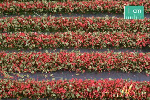 miniNatur Blütenstreifen - Rot - ca. 336cm - H0 (1:87) - (731-23)