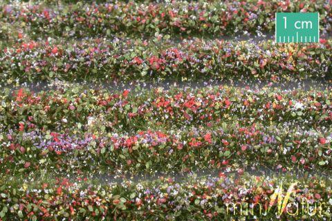 miniNatur Blütenstreifen - Bunt - ca. 336cm - H0 (1:87) - (731-29)