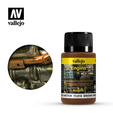 Vallejo Weathering Effects - Brown Engine Soot - 40 ml - (73.818)