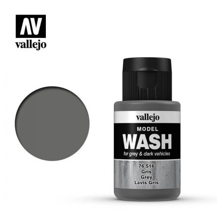 Vallejo Model Wash - Grey - 35 ml - (76.516)