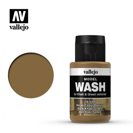 Vallejo Model Wash - Dark Khaki Green - 35 ml - (76.520)