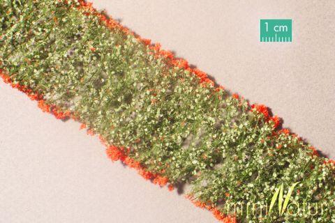miniNatur Blumen - Rot - ca. 4 x 7,5 cm - H0 (1:87) - (998-23MS)